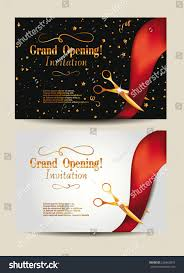 Invitation Card For Home Opening Ceremony Grand Opening Invitation Cards Confetti Gold Stock Vector