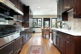 dark cherry wood kitchen cabinet large kitchen with two tone wood
