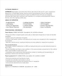 Free Resume Templates Pdf by Driver Resume Template 6 Free Word Pdf Document Downloads