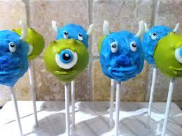 monsters inc cake pops u2013 let them eat pops