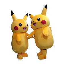 Mascot Costumes Halloween 2017top Grade Deluxe Pikachu Mascot Costume Cartoon Character