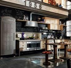 tableau noir cuisine decoration tableau noir cuisine vintage déco murale frigo meubles