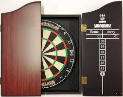black dart board cabinet pro blade dart board set with winmau rosewood cabinet