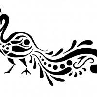 marvelous tribal peacock in crown tattoo design tattooimages biz
