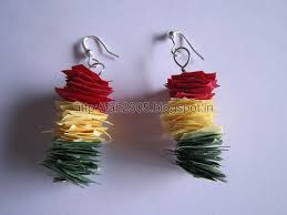 handmade paper earrings fah creations handmade jewelry scrap paper earrings