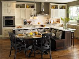 Pictures Of Small Kitchen Islands Wonderful Small Kitchen Island With Seating Using Black Colors