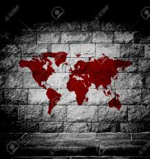 Cool World Maps by Blood World Map On The Wall Stock Photo Picture And Royalty Free