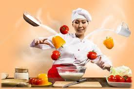 chef de cuisine femme chef de femme asiatique dans la cuisine évoque photographie