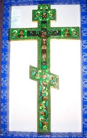 altar crucifix enemal orthodox altar cross