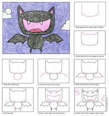 cartoon vampire bat art projects for kids