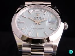 review rolex oyster perpetual day date 40 platinum