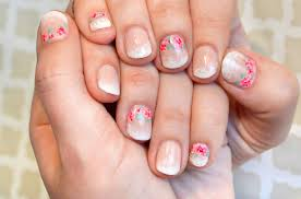 ombre and floral nail art the new french manicure
