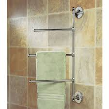 Towel Rack Ideas For Small Bathrooms Gatco 1458 3 Arm Wall Mount Towel Bar Brass Towel Rack Wall