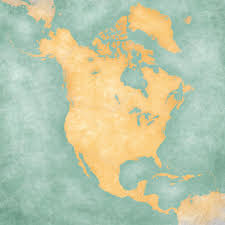 Blank Maps Of North America by Map Of North America Blank Map Vintage Series U2014 Stock Photo