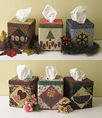 seasonal tissue box covers pattern from connectingthreads quilting