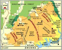 grand national park map a map of southern utah and northeast arizona showing how