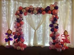 arch decoration balloon decor of central california home