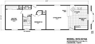 2 Bedroom Single Wide Floor Plans Follett 16 X 52 812 Sqft Mobile Home Factory Select Homes