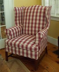 wingback chair slipcovers white wing chair slipcover buffalo check on an wing chair