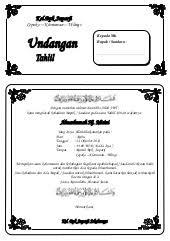 template undangan haul undangan tahlil doc