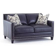 Navy Blue Leather Sofas by Hendrix Navy Blue Leather Sofa By Steve Silver