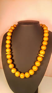 necklace from beads images Vintage egg yolk colour round beads baltic amber necklace from jpg