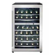 Beer Bottle Refrigerator Glass Door by Danby Dwc040a3bssdd 38 Bottle Dual Zone Wine Refrigerator