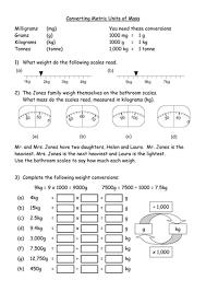 ks3 worksheet u2013 l5 worksheet converting metric mas by
