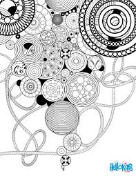 circles rosettes coloring pages hellokids