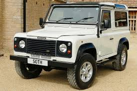 white land rover defender 90 land rover defender 50th anniversary 4 0 v8 auto