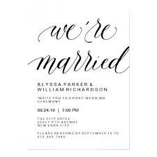 wedding ceremony invitation wording wedding reception invitation wording already married or a guide to