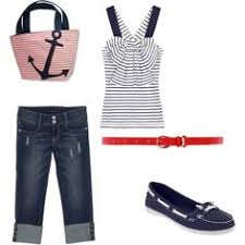 Nautical Theme Fashion - nautical by suevans we never go out of style pinterest