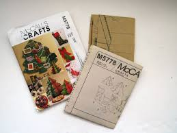 mccalls christmas pattern m5778 card holder stockings christmas