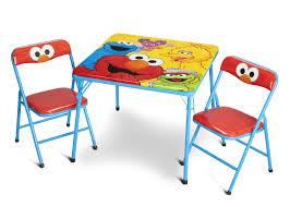 Folding Table by Sesame Street Metal Folding Table U0026 Chair Set Delta Children U0027s
