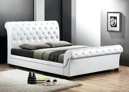 King Size Leather Sleigh Bed White Leather Sleigh Bedleather Sleigh Bed White Leather Sleigh