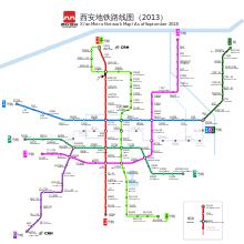 map of xi an xi an metro