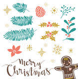 gingerbread man new year greeting card congratulations on