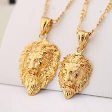 man necklace store images Men jewelry cool lion pendant gift new trendy 2 sizes options 18k jpg
