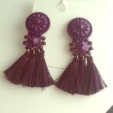 hm earrings 38 h m jewelry h m purple tassels earrings from karizma s