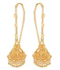 gold kaan earrings buy goldnera traditional style classic gold plated pair
