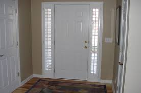 Front Doors With Glass Side Panels Window Treatments For Glass Front Doors