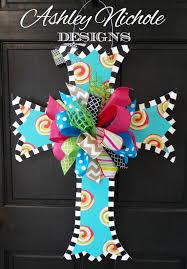 Easter Door Decorations Pinterest by Scalloped Cross Door Hanger Easter Door By Designsashleynichole