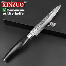 different kitchen knives wholesale 5 inches utility knife high quality fruit knife 73 layers