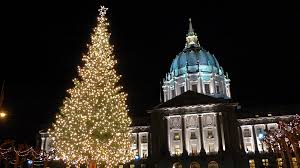 sf christmas tree lighting 2017 goodbye mayor ed lee sf s memorial tributes city hall