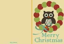 christmas cards free a free printable christmas cards owl cards