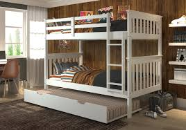 White Bunk Bed With Trundle Mission Bunk Bed Trundle White
