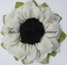 burlap sunflower wreath white flower with black center burlap sunflower wreath the