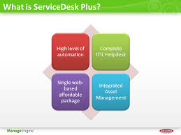 what is service desk servicedesk plus product overview presented by manageengine ppt