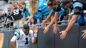 carolina panthers players let young cancer patients cut hair for