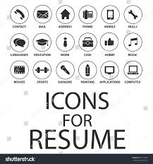 Resume Job by Icons Set Your Resume Cv Job Stock Vector 357219386 Shutterstock